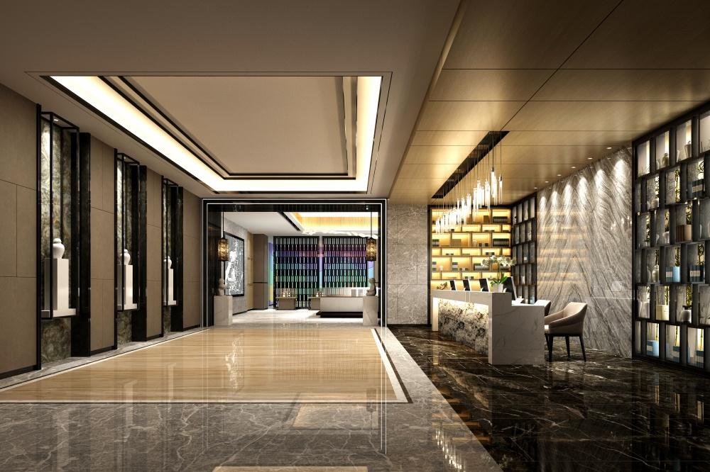 downtown metro Toronto office complex hallway
